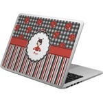 Ladybugs & Stripes Laptop Skin - Custom Sized (Personalized)