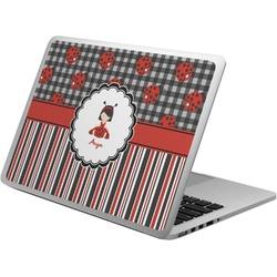 Ladybugs & Stripes Laptop Skin - Custom Sized (Personalized)
