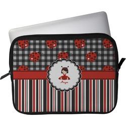 """Ladybugs & Stripes Laptop Sleeve / Case - 13"""" (Personalized)"""