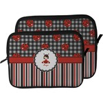 Ladybugs & Stripes Laptop Sleeve / Case (Personalized)