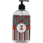 Ladybugs & Stripes Plastic Soap / Lotion Dispenser (Personalized)