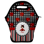 Ladybugs & Stripes Lunch Bag (Personalized)