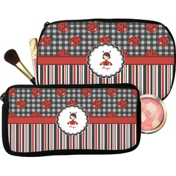 Ladybugs & Stripes Makeup / Cosmetic Bag (Personalized)