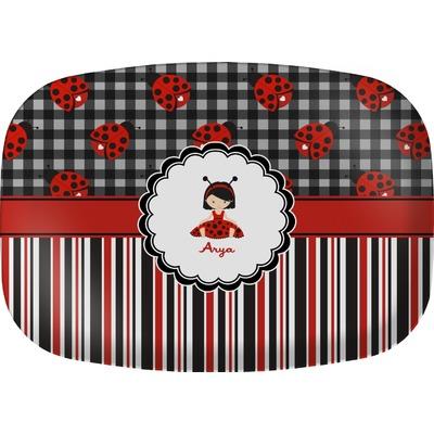 Ladybugs & Stripes Melamine Platter (Personalized)