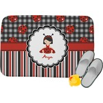 Ladybugs & Stripes Memory Foam Bath Mat (Personalized)