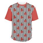 Ladybugs & Stripes Men's Crew T-Shirt (Personalized)