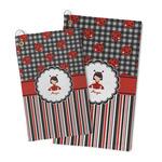 Ladybugs & Stripes Microfiber Golf Towel (Personalized)