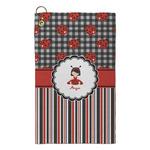 Ladybugs & Stripes Microfiber Golf Towel - Small (Personalized)