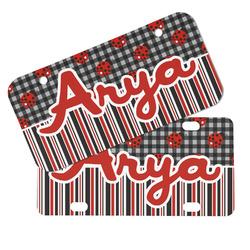 Ladybugs & Stripes Mini/Bicycle License Plates (Personalized)