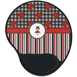 Ladybugs & Stripes Mouse Pad with Wrist Support