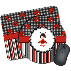Ladybugs & Stripes Mouse Pads (Personalized)