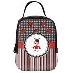 Ladybugs & Stripes Neoprene Lunch Tote (Personalized)