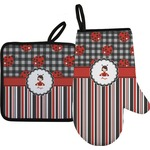 Ladybugs & Stripes Oven Mitt & Pot Holder (Personalized)