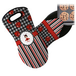 Ladybugs & Stripes Neoprene Oven Mitt (Personalized)