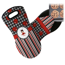 Ladybugs & Stripes Neoprene Oven Mitts w/ Name or Text