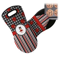 Ladybugs & Stripes Neoprene Oven Mitt (Personalized)