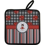 Ladybugs & Stripes Pot Holder (Personalized)