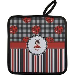 Ladybugs & Stripes Pot Holder (Personalized)