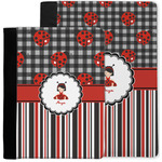 Ladybugs & Stripes Notebook Padfolio w/ Name or Text