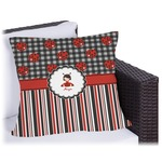 Ladybugs & Stripes Outdoor Pillow (Personalized)