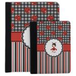 Ladybugs & Stripes Padfolio Clipboard (Personalized)