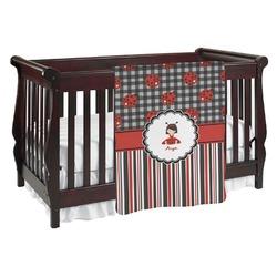 Ladybugs & Stripes Baby Blanket (Personalized)