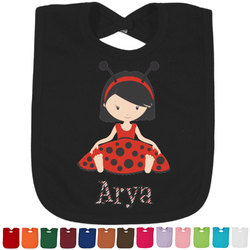 Ladybugs & Stripes Bib - Select Color (Personalized)