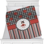 Ladybugs & Stripes Blanket (Personalized)