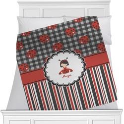 Ladybugs & Stripes Blanket (Personalized)