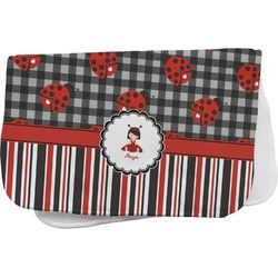 Ladybugs & Stripes Burp Cloth (Personalized)