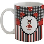 Ladybugs & Stripes Coffee Mug (Personalized)