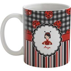 Ladybugs & Stripes Coffee Mug (Personalized)