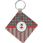 Ladybugs & Stripes Diamond Key Chain (Personalized)