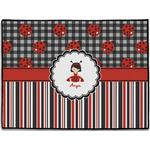 Ladybugs & Stripes Door Mat (Personalized)