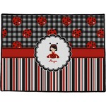 Ladybugs & Stripes Door Mat (Personalized)