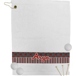 Ladybugs & Stripes Golf Towel (Personalized)