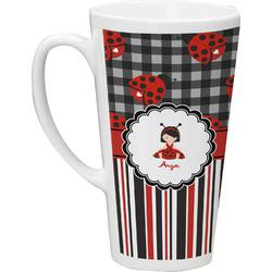 Ladybugs & Stripes Latte Mug (Personalized)