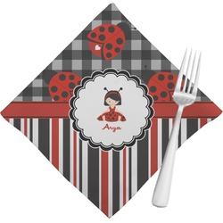 Ladybugs & Stripes Cloth Napkins (Set of 4) (Personalized)