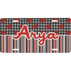 Ladybugs & Stripes Front License Plate (Personalized)