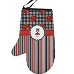 Ladybugs & Stripes Left Oven Mitt (Personalized)