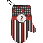 Ladybugs & Stripes Right Oven Mitt (Personalized)