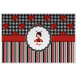 Ladybugs & Stripes Placemat (Laminated) (Personalized)