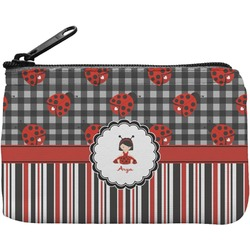 Ladybugs & Stripes Rectangular Coin Purse (Personalized)