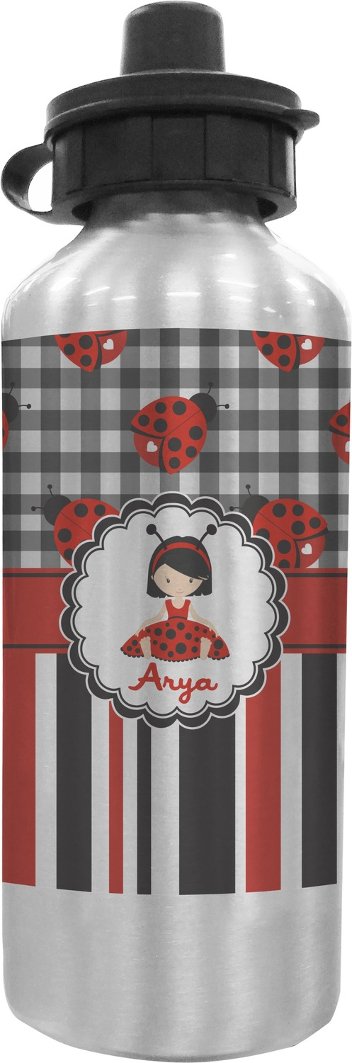 Ladybugs stripes water bottle personalized rnk shops - Ladybug watering can ...
