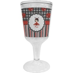 Ladybugs & Stripes Wine Tumbler (Personalized)