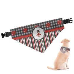 Ladybugs & Stripes Dog Bandana (Personalized)