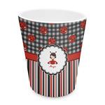 Ladybugs & Stripes Plastic Tumbler 6oz (Personalized)