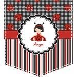 Ladybugs & Stripes Iron On Faux Pocket (Personalized)