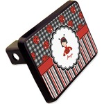 Ladybugs & Stripes Rectangular Trailer Hitch Cover - 2