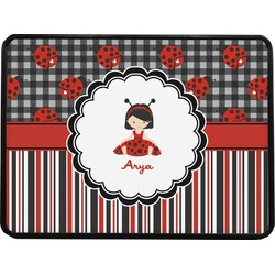 """Ladybugs & Stripes Rectangular Trailer Hitch Cover - 1.25"""" (Personalized)"""
